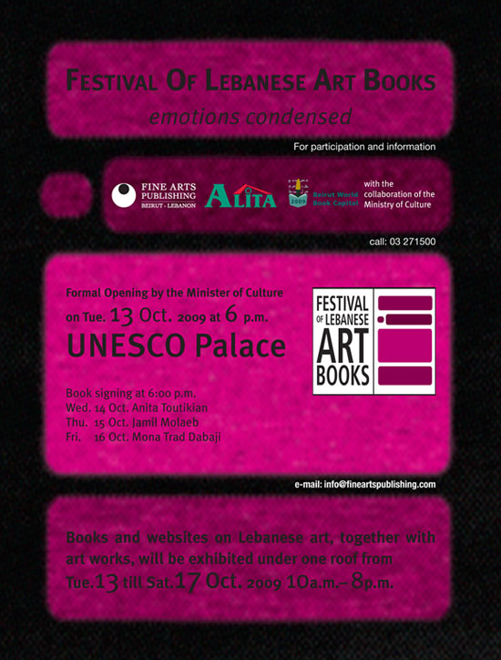 Festival of Lebanese Art Books Poster
