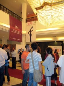 The corwd at the closing of the Beirut International film festival