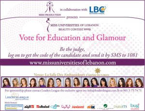 Miss Universities lebanon - beuaty meets education?