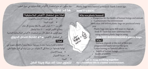 souk tayeb returns to using biodegradable plasic bags