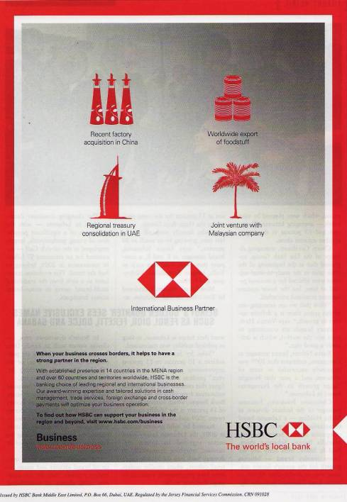 HSBC world's local bank business ad