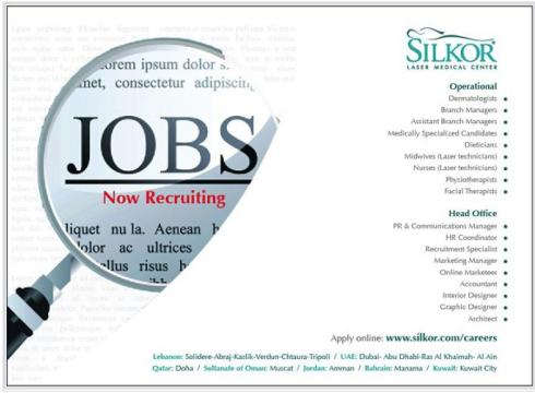 Openings at silkor lebanon and dubai