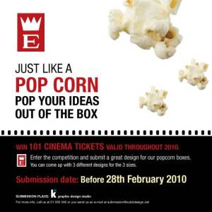 Empire popcorn box design competition